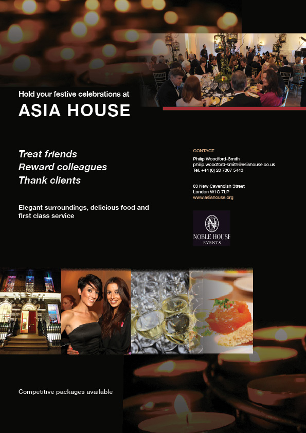 posters and flyers for asia house
